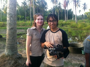 Filming with my trusted producer/cameraman Chicco. Aceh 2011